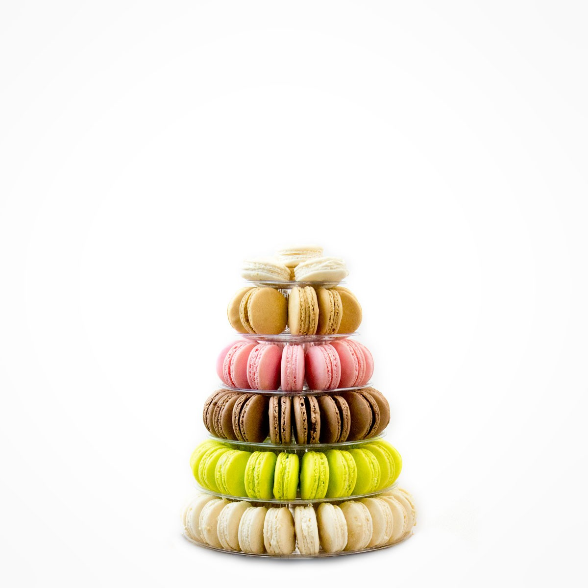 6-tiers tower  95 macarons