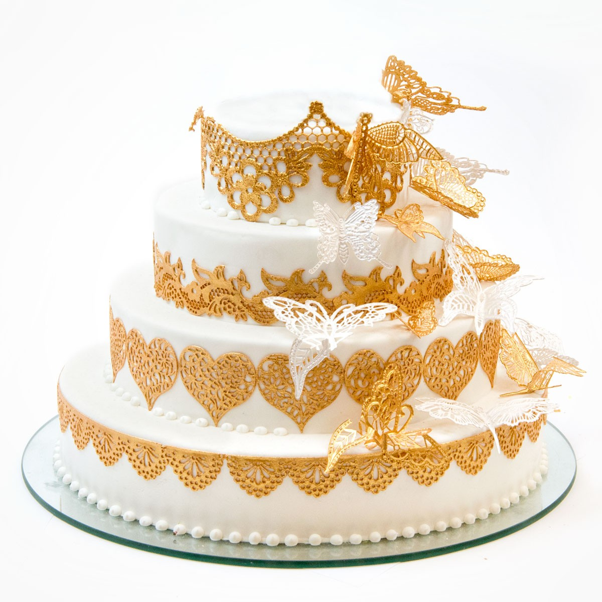 Papillon Wedding cake